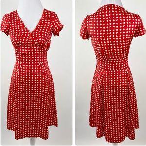 Marc Jacobs Red Silk Polka Dot Dress Size 2